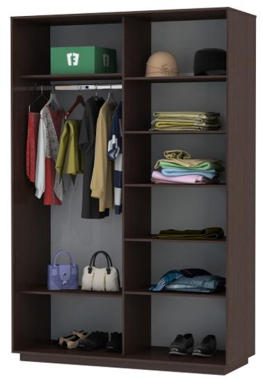 Настройка расположения полок в шкафу-купе